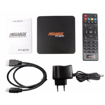 Harga Megabox Athena Garansi Resmi - Android TV Box Quad Qore RAM 2GB - Internal 8GB - Hitam