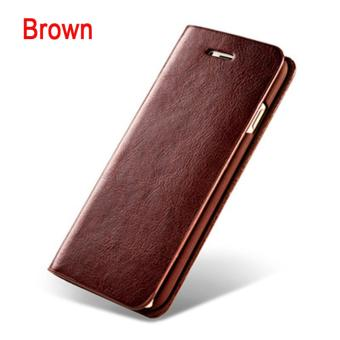 Harga Wallet Flip Style Retro Leather Card Holder Protective Cover Case for iPhone 7 4.7inch (Brown) - intl