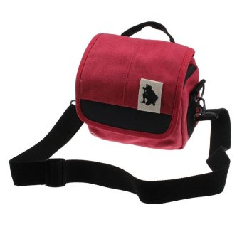 Harga SLR Digital Camera Case Shoulder Bag Backpack For Canon For Sony Red - intl