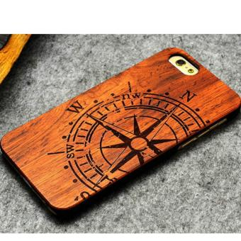 Harga LYBALL Luxury Natural Wooden Wood Bamboo + PC Case For iPhone 6 6S Hard Back Cover - intl