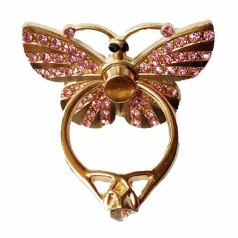 Harga Best Seller Ring Stand Butterfly - Gold