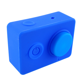 Harga Silicone Case for Yi Action Camera + Lens Cover Cap Blue