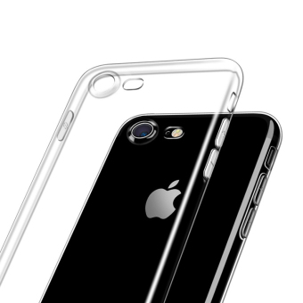 Harga Ultra Thin Soft TPU Transparent Crystal High Clear Silicon Back Cover Protective Case for iPhone 7 (4.7inch) + 1pcs Tempered Glass Screen Protector Gift - intl