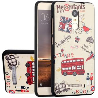RUILEAN Soft TPU Case For Xiaomi Redmi Note 3 London Bus 3D Embossed Painting Series Protective