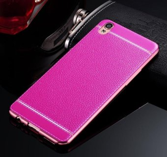 Harga Phone case soft leather mobile phone case litchi grain cortical soft shell for oppo A39 - intl