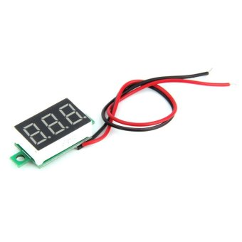 Harga Mini Red LED Panel Voltage Meter 3-Digital Adjustment Voltmeter