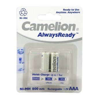 Harga Camelion Always Ready Baterai AAA Isi Ulang Battery Rechargeable 2 x 800mAh - 2 pcs