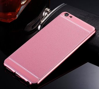 Harga Phone case soft leather mobile phone case litchi grain cortical soft shell for vivo Y67/V5 - intl