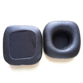 Harga A Pair of Replacement 70x70mm Square Shaped Soft PU Foam Earpads Ear Pads Ear Cushions for Marshall MAJOR Headphones (Black)