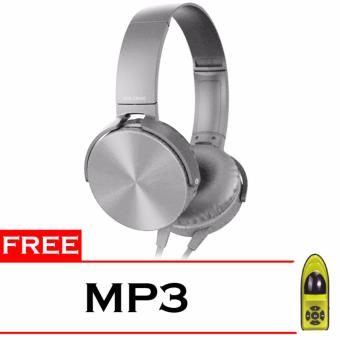 Harga Best Seller Headphone MDR XB450AP + Free MP3 - Silver