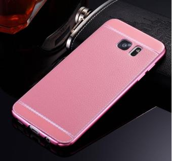 Harga Phone case soft leather mobile phone case litchi grain cortical soft shell for Samsung A320/A3(2017) - intl