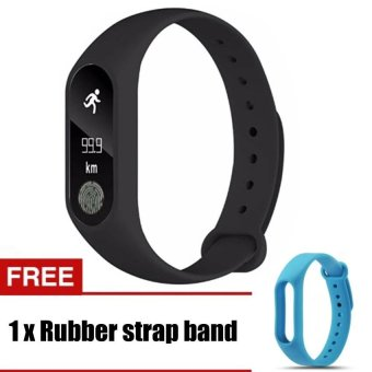 M2 Wristband Heart Rate Monitor Smart Watch Sports Reminder Smart Band Fitness Tracker Bracelet - intl