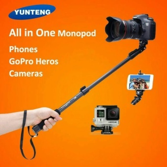 Harga Yunteng YT-188 Tongsis - Selfie Stick Monopod Built in AUX Cable and Phone Clip - Hitam