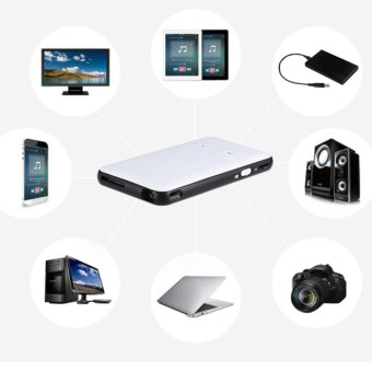 "Harga 2017 NEW WEJOY DL-S6+ Mobile Pico Projector WIFI DLP Portable Mini Pocket Size Multimedia Video LED Gaming Projectors with 120"" Display - intl"