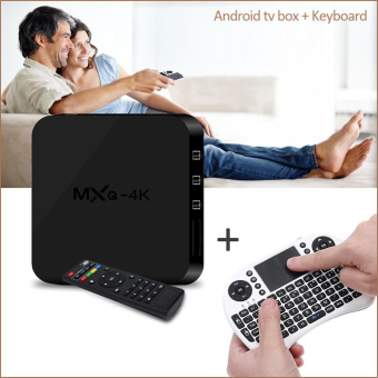 Harga Omikai MXQ-4K + White i8 keyboard Android 5.1 KODI 16.1 Streaming Media Player Android TV Box