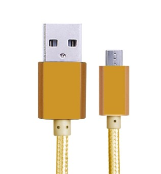 Harga Cable Metal Quick Charge & Data Cable Micro USB - Yellow