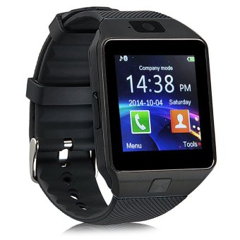 Harga uNiQue Smart Watch DZ09 for iOS and Android - Strap Rubber - Black
