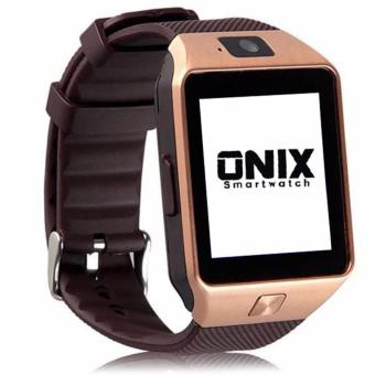 Harga Onix Smartwatch - Dz09 / U9 - Gold Strap Brown Support Simcard & Micro Memory Card