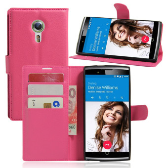Harga Wallet Flip Leather Case For Alcatel Flash 2/Alcatel OneTouch Flash 2 (Rose Red) - intl