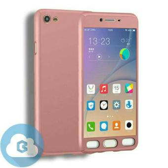 Harga Case Hardcase 360 Full Body Casing Depan Belakang Free Tempered Glass Oppo F1s ( Rose Gold)