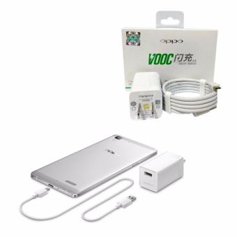 Harga Genuine Oppo Charger VOOC For Oppo Find,N3,R5,U3,R7,R9 Plus R7s Flash Charger AK779 - Putih Original