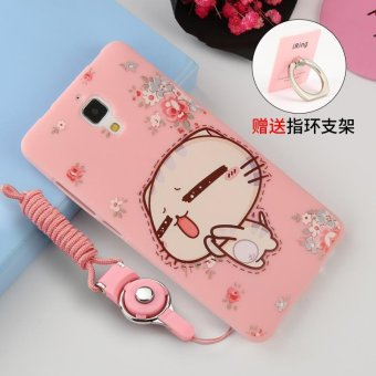 ... Silica Gel Soft Phone Case for Xiaomi Mi 4 with a Phone Holder Ring Multicolor