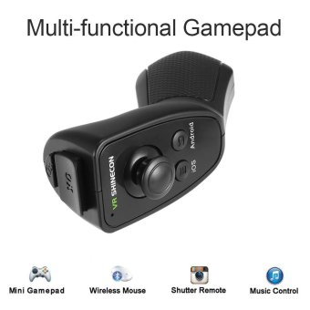 Harga VR SHINECON Multi-functional Wireless Bluetooth 3.0 Remote Controller VR Gamepad Selfie Camera Shutter Wireless Mouse for VR Glasses Box Smart Phones - intl