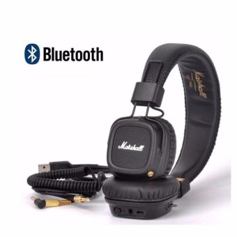 Harga Marshall Major II Bluetooth Headphones Wireless Headset Foldable with Built-in Microphone and Remote Second generation 2 - intl