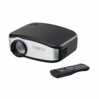 Harga uNiQue Mini Projector CHEERLUX C6 Premium LED 1200 lumens + TV, HD Quality - Hitam