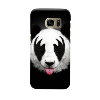 Indocustomcase Art Kiss of a Panda Casing Case Cover For Samsung Galaxy S6