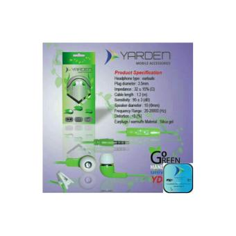 Harga YARDEN GREEN HANDSFREE POWERFUL BASS Excellent sound Quality hijau