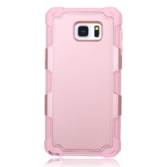 Moonmini Case for Samsung Galaxy Note 5 PC + TPU Shockproof Back Case Non-slip Cover - Rose Gold - intl