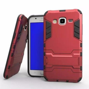 Harga Case TPU + PC Case for Samsung Galaxy J1 Ace - Red