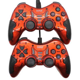 Harga M-Tech 8200 Gamepad Stik Double Getar Turbo - Merah