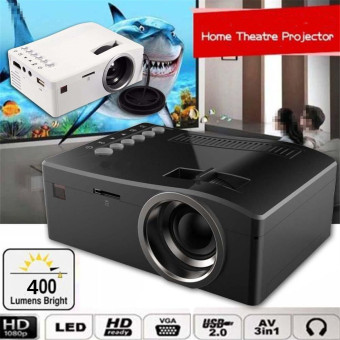 Harga Full HD 1080P Home Theater LED Mini Multimedia Projector Cinema USB TV HDMI MT - intl