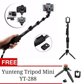 Harga Yunteng YT-1288 Tongsis Monopod with Remote Bluetooth Function + U Holder + Tripod Mini Yunteng 228