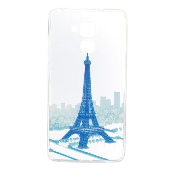 Y5c Cute Cat Intl Source Iron tower TPU Soft Gasbag Back Case Cover .