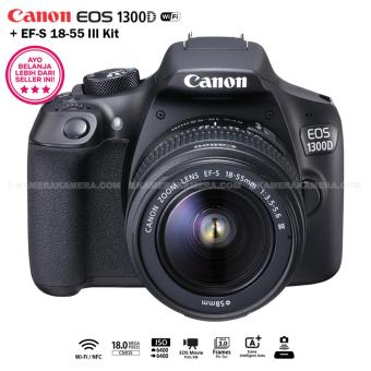 Harga Canon EOS 1300D 18MP (Wi-Fi/NFC) EF-S 18-55mm III
