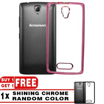 Harga Softcase Silicon Jelly Case List Shining Chrome for Lenovo A1000 - Rose Gold + Free Softcase List Chrome