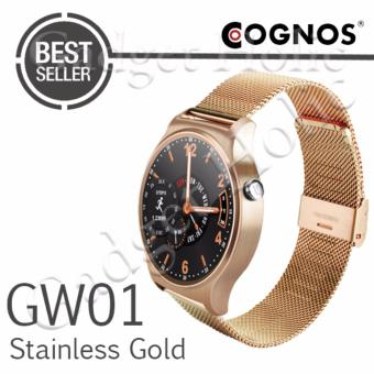 Harga Cognos Smartwatch GW01 - GSM - Heart Rate - Stainless Gold