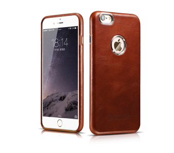 Harga ICARER Ultra Slim Classic Vintage Genuine Leather Case Protective Back Cover for iPhone 6 Plus/iPhone 6s Plus(Brown)