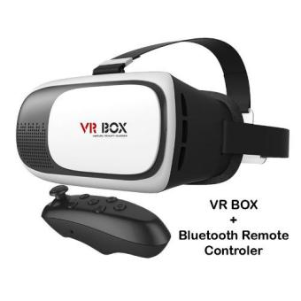 Harga Paket Hemat VR Box Virtual Reality 3D For Smartphone & Ios / VR Box 2 + Joystik Bluetooth