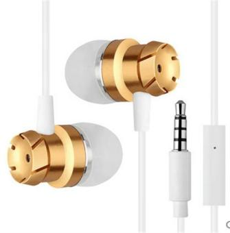 Harga Fashion metal in-ear headphones rock heavy bass phone headset MP3 computer headphones microphone headphones - intl