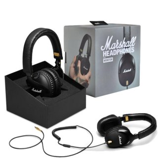 Harga Genuine Marshall Monitor Headphones Over-Ear Headset With Mic - intl