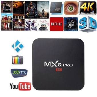 Harga niceEshop MXQ Pro Amlogic S905 inti Quard Tv Box Android 5.1 Smart TV Box 1080p HDMI 4 KB Stream TV Box (steker UK)