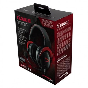 Harga Kingston HyperX Cloud II - Pro Gaming Headset ( Red - KHX-HSCP-RD )