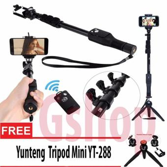 Harga Yunteng YT-1288 Monopod Tongsis 1288 with Bluetooth Function + U Holder + Yunteng 228 Combo Set