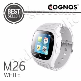 Harga Cognos Smartwatch M26 Bluetooth With Led Alitmeter Music Player Pedometer For Apple Ios Android - Putih
