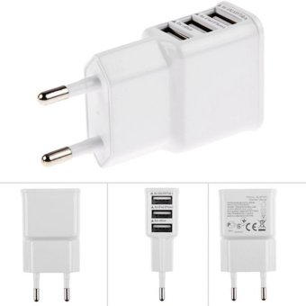Harga 5V 2A EU Multi USB Charger Device Plug for iPhone 5/5S/6/6S/7 Plus iPad 2/3/4/mini Samsung Galaxy S5 Travel USB Power Adapter Wall Charger - intl