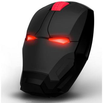 Harga TaffWare Mouse Wireless Optical Iron Man 2.4Ghz - Black